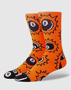 Stance Scratches Classic Crew Socks - Orange