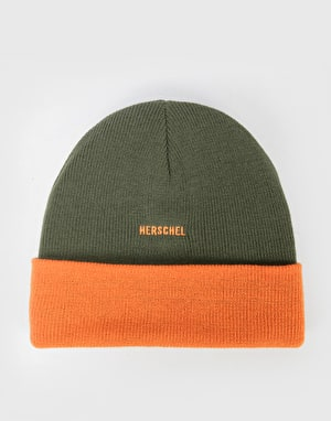 Herschel Supply Co. Rosewell Beanie - Ivy Green/Vermillion Orange