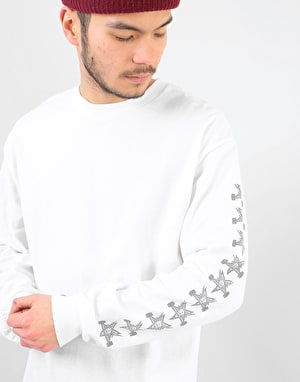 Indpendent x Thrasher Pentagram Cross L/S T-Shirt - White