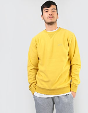 Stüssy Stock L/S Terry Crew - Lemon