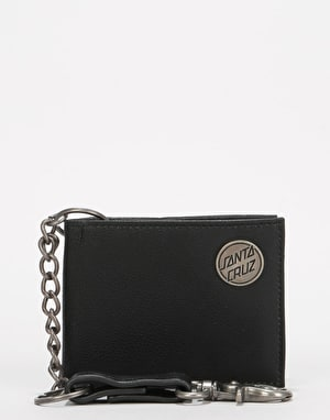Santa Cruz Chain Dot Wallet - Black