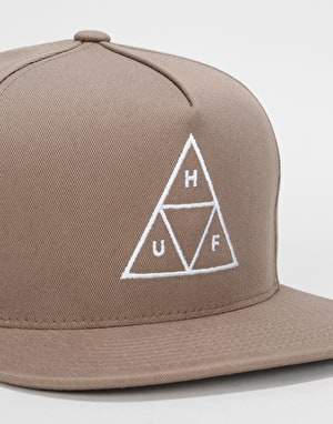 HUF Triple Triangle Snapback Cap - Tobacco
