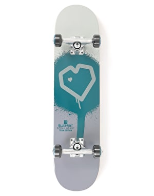 Blueprint Spray Heart Complete Skateboard - 7.5