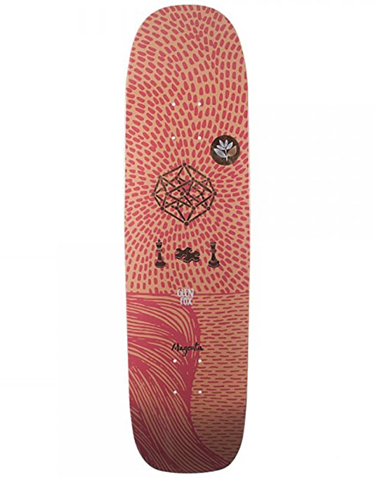 Magenta Fox Dream Series Square Shape Skateboard Deck - 8.125""