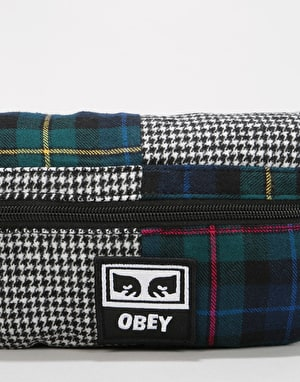 Obey Patched Daily Cross Body Bag - Plaid Multi