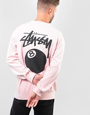 Stüssy 8 Ball Pigment Dyed Crew - Blush