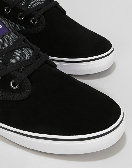 Globe Motley Skate Shoes - Black Chambray/White