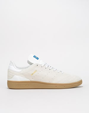 Adidas Busenitz RX Skate Shoes - Crystal White/Gum/Gold Metallic
