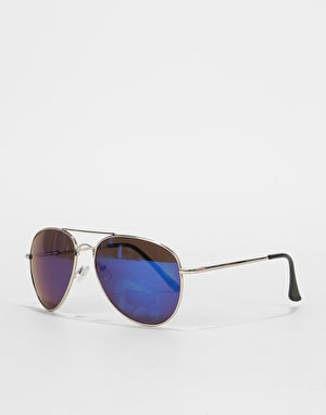 Route One Aviator Sunglasses - Silver/Blue