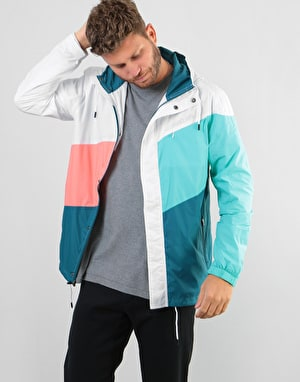 The Quiet Life Sierra Windbreaker - White/Coral/Teal