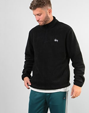 Stüssy Half Zip Polar Fleece - Black