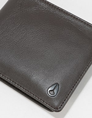 Nixon Satellite Big Bill Bi-Fold Leather Wallet - Brown