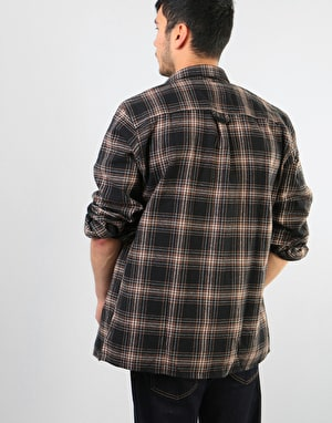 Route One Flannel Shirt - Brown/Black/White