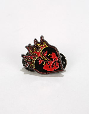 Obey Be Mine Pin - Black/Red
