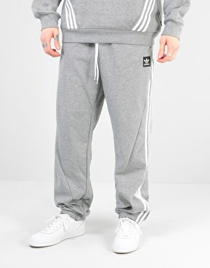 Adidas Insley Sweatpants - Medium Grey Heather/White