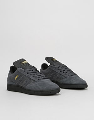 Adidas Busenitz Pro Skate Shoes - Solid Grey/Core Black/Gold