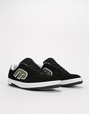 Etnies LoCut Skate Shoes - Black/Green/White