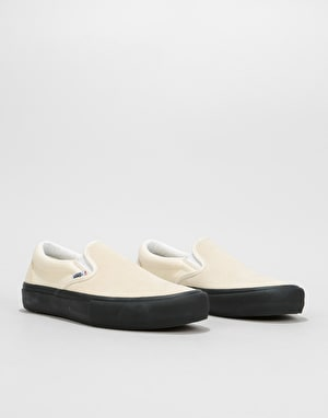 Vans Slip-On Pro Skate Shoes - Classic White/Black