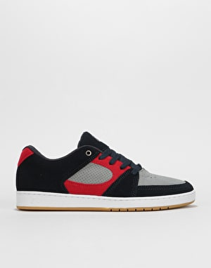 éS Accel Slim Skate Shoes - Navy/Grey/Red