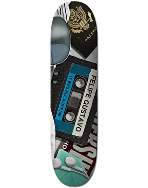 Plan B Felipe Mixtape BLK ICE Skateboard Deck - 8.125