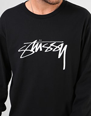 Stüssy Smooth Stock L/S T-Shirt - Black