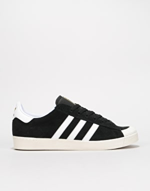 Adidas Half Shell Vulc ADV Skate Shoes - Black/White/Chalk White