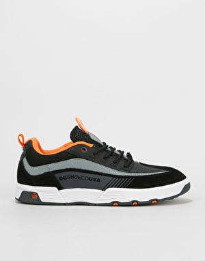 DC Legacy Slim Skate Shoes - Black/Orange/Grey