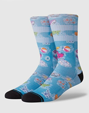 Stance Float Classic Crew Socks - Blue