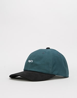 Obey 90'S Jumble Bar 6 Panel Snapback Cap - Dark Teal/Black