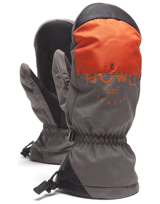 Howl Team 2018 Snowboard Mitts - Grey