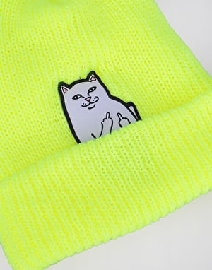 RIPNDIP Lord Nermal Rib Beanie - Safety Yellow