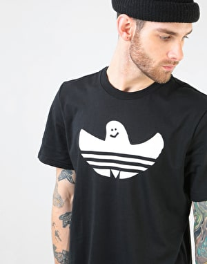Adidas Solid Shmoo T-Shirt - Black/White