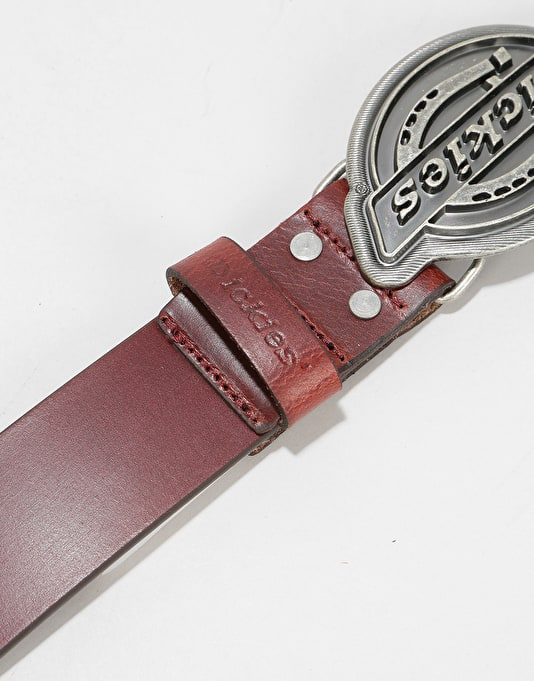 Dickies Everett Leather Belt - Mahogany