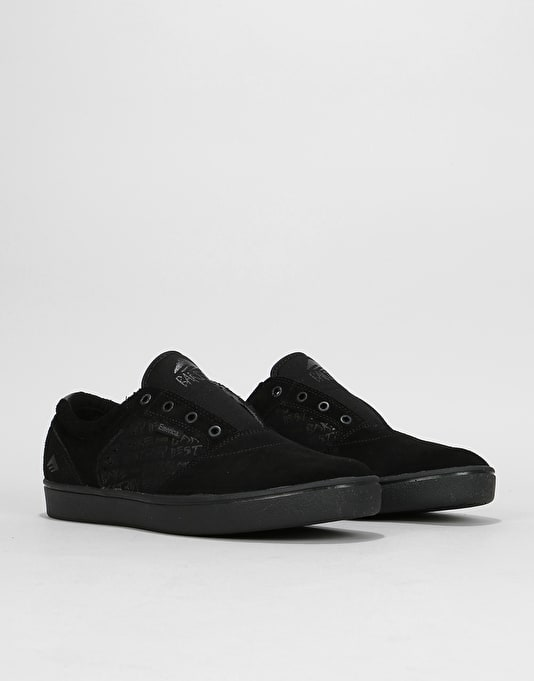 Emerica x Baker Figgy Dose Skate Shoes - Black/Black