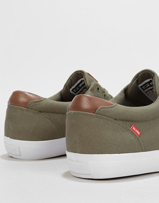 Globe Willow Skate Shoes - Burnt Olive Canvas