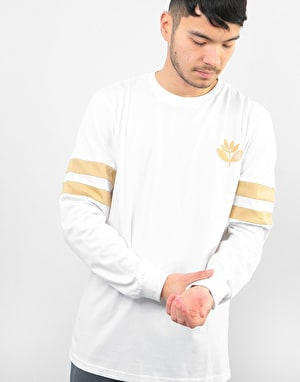 Magenta Team L/S T-Shirt - White/Beige