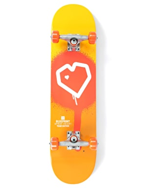 Blueprint Spray Heart Complete Skateboard - 7.75