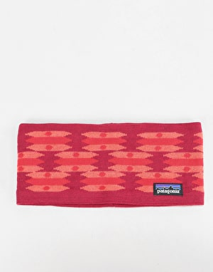 Patagonia Lined Knit Headband - Geo Construct/Oxide Red