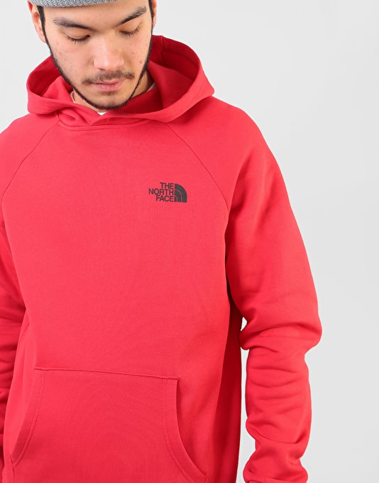 The North Face Raglan Red Box Pullover Hoodie - TNF Red/TNF Black