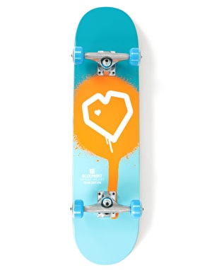 Blueprint Spray Heart Complete Skateboard - 7.875