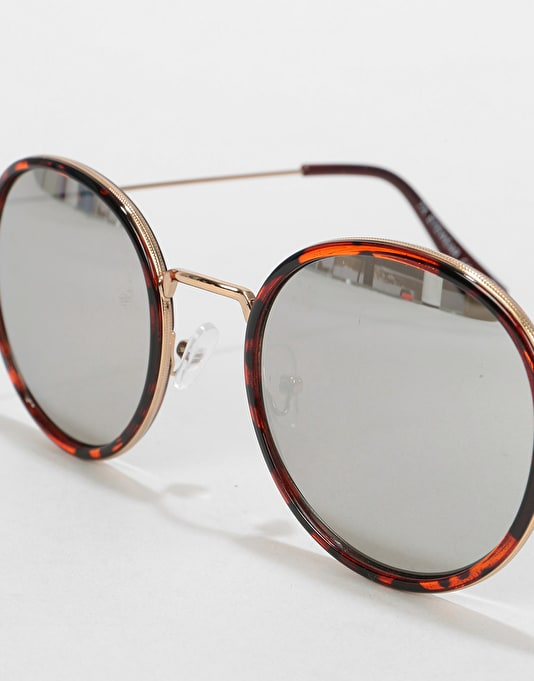 Route One Oval Rimmed Sunglasses - Tortoise