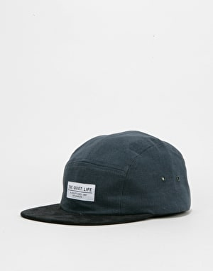 The Quiet Life Cord Combo 5 Panel Cap - Navy/Black