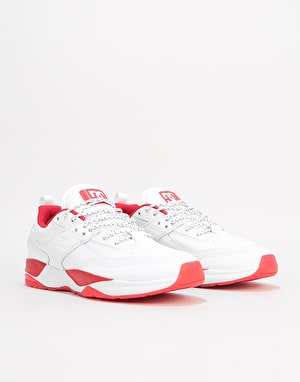 DC E.Tribeka SJS Skate Shoes - White/Red