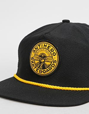 Anti Hero Stay Ready Snapback Cap - Black/Mustard