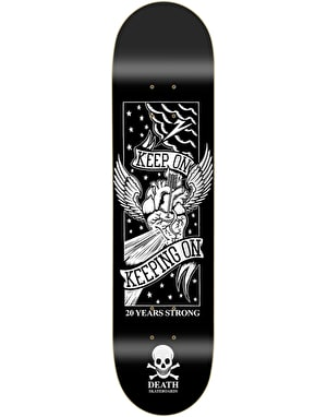 Death Keep On '20 Year' Skateboard Deck - 8.25