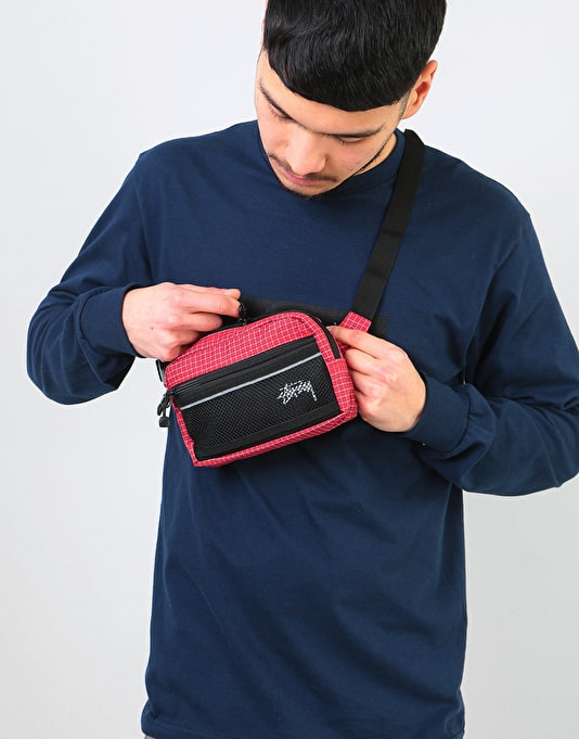 Stüssy Ripstop Nylon Waist Body Bag - Red
