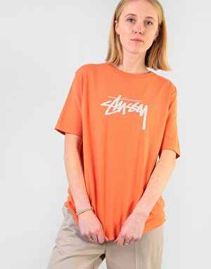 Stüssy Womens Stock T-Shirt - Rust