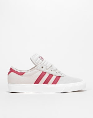 Adidas Adi-Ease Premiere Skate Shoes - Crystal White/Burgundy