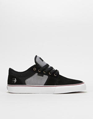 Etnies Barge LS Skate Shoes - Black/Dark Grey/Silver