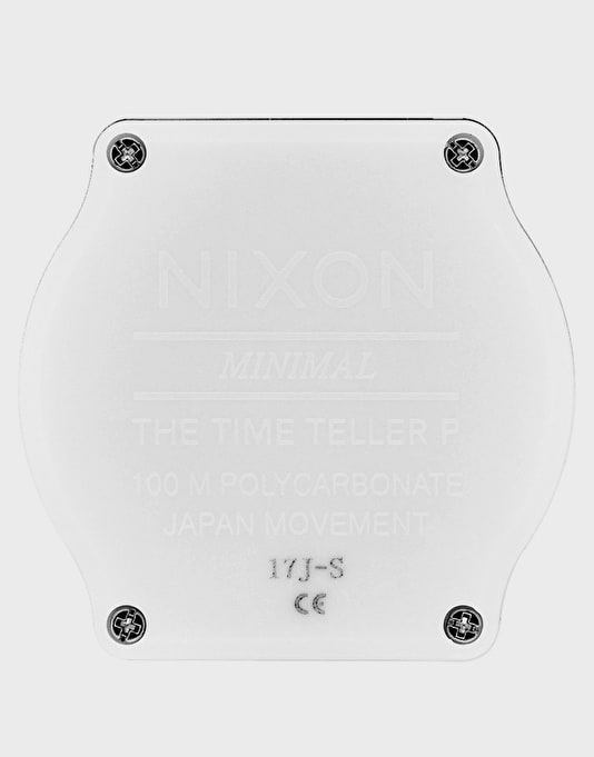 Nixon Time Teller P Corp Watch - Matte White/Black